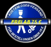Kostenloser Versand für Bestellungen über 75 Euro